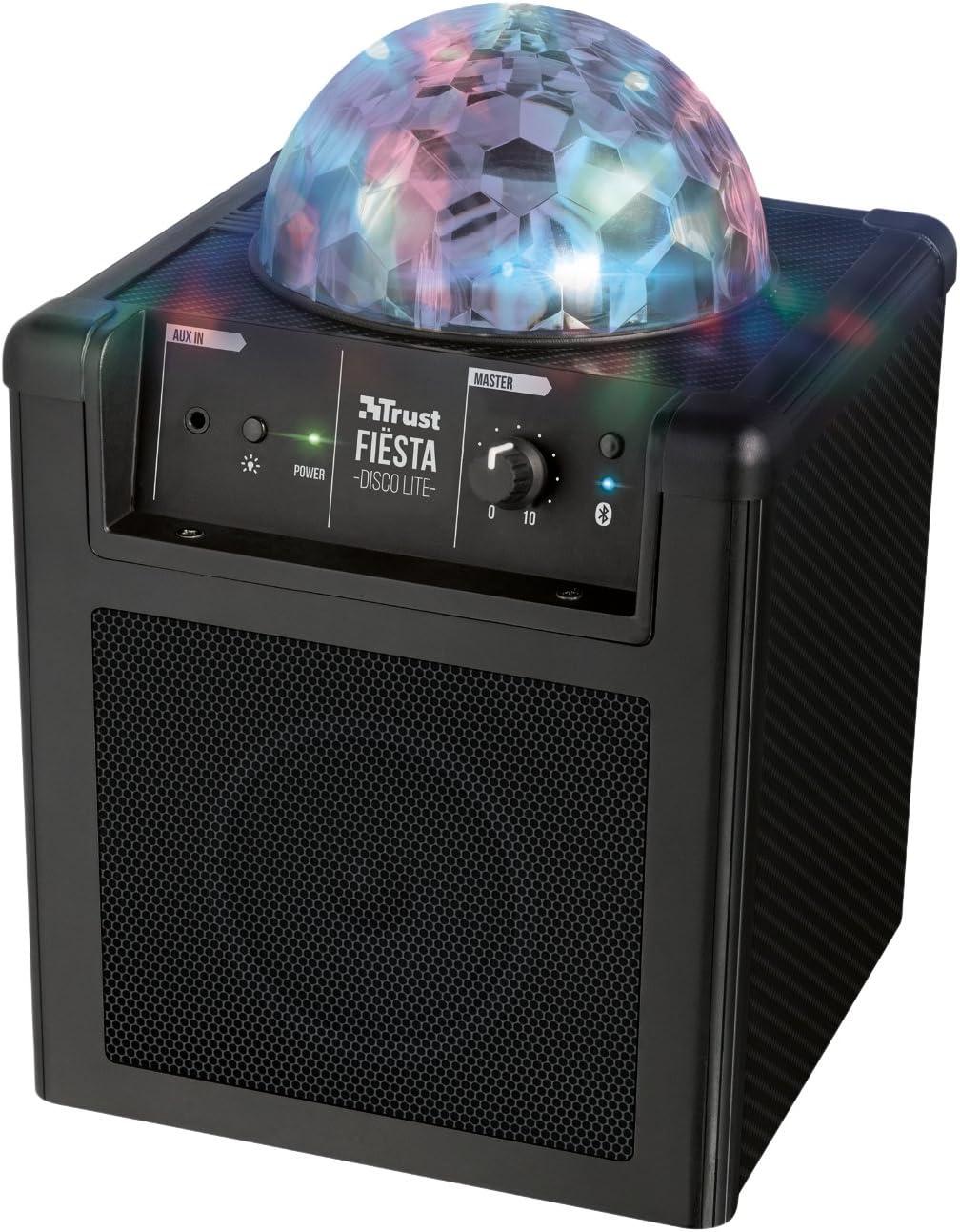 Trust Urban Fi/ësta Pro Tragbarer Lautsprecher mit Mikrofon 60W, 90 Stunden Akkulaufzeit, Wireless, Bluetooth