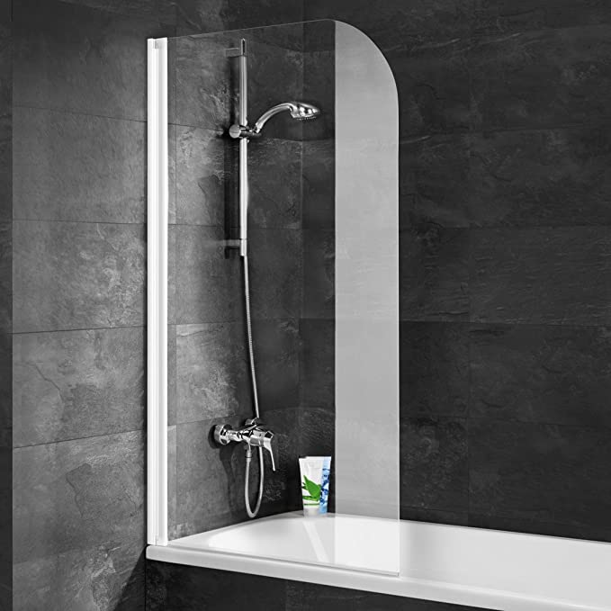 Schulte 4060991005459 Pare rabattable, mampara de ducha reversible, 1 persiana giratoria, 80 x 140 cm, cristal transparente, perfil blanco, 80 cm: Amazon.es: Bricolaje y herramientas