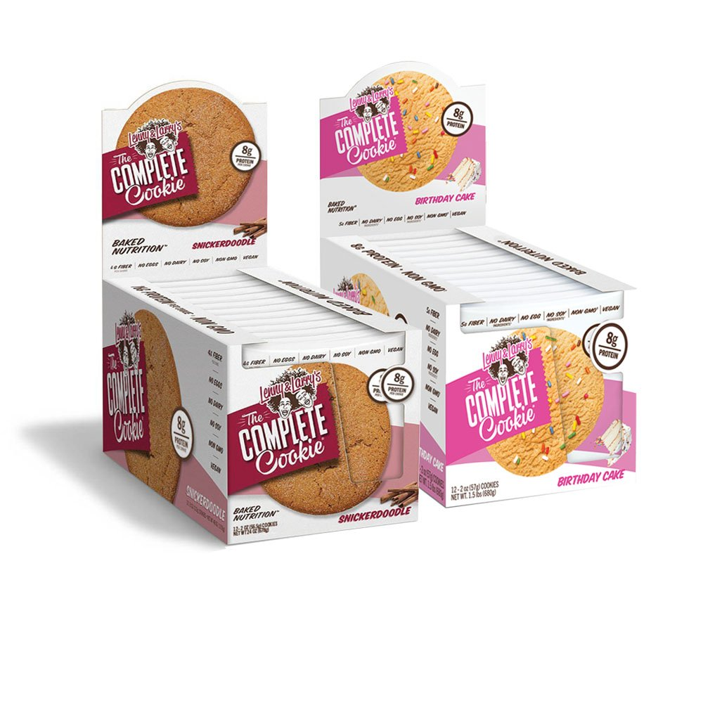 Amazon Lenny Larrys The Complete Cookie Snickerdoodle Birthday Cake 2oz 8g Protein Vegan Pack Of 24
