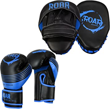 ROAR Boxing Focus Pads Curved Hook and Jab pads Muay Thai Kickboxing mitts MMA