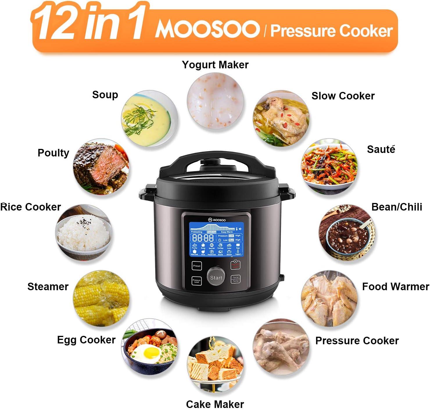 MOOSOO 13-in-1 Instant Digital Pressure Pot - Electric Pressure Cooker