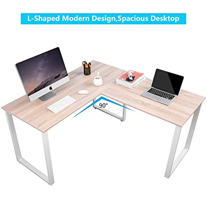 office study desk. Exellent Office Merax LShaped Office Workstation Computer Desk Corner Home  Wood Laptop Table Study On M