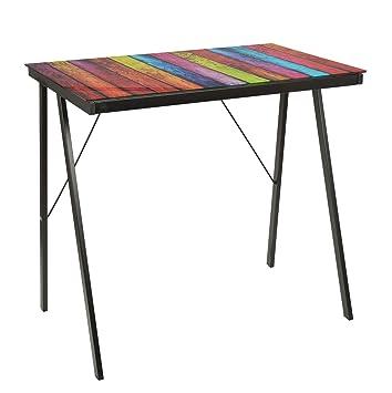 ts-ideen Schreibtisch Bürotisch Glastisch Computertisch mit Stripes ...