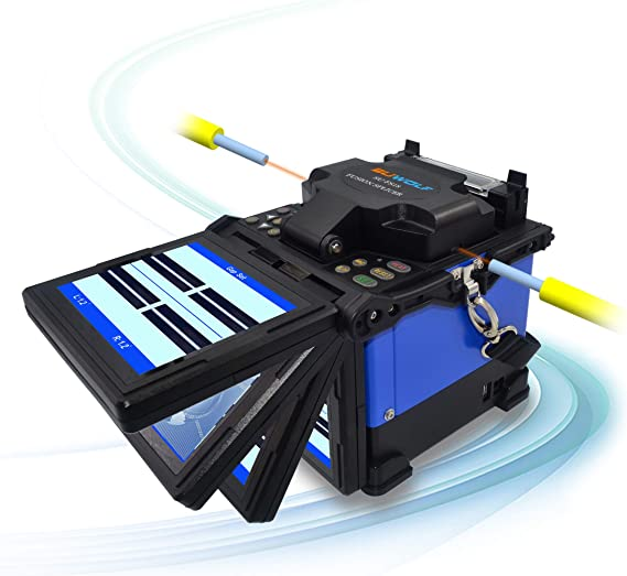 EU plug-arancia 5.0 in display LCD TFT A-81S Saldatrice a fibra ottica Giuntatrice a fibra ottica Giuntatrice a giuntura per progetti di fibre ottiche e cavi