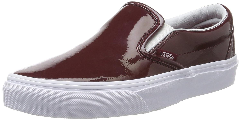 Vans Classic Slip-on Unisex-Erwachsene Sneakers  40.5 EU|Rot (Tumble Patent/Burgundy)