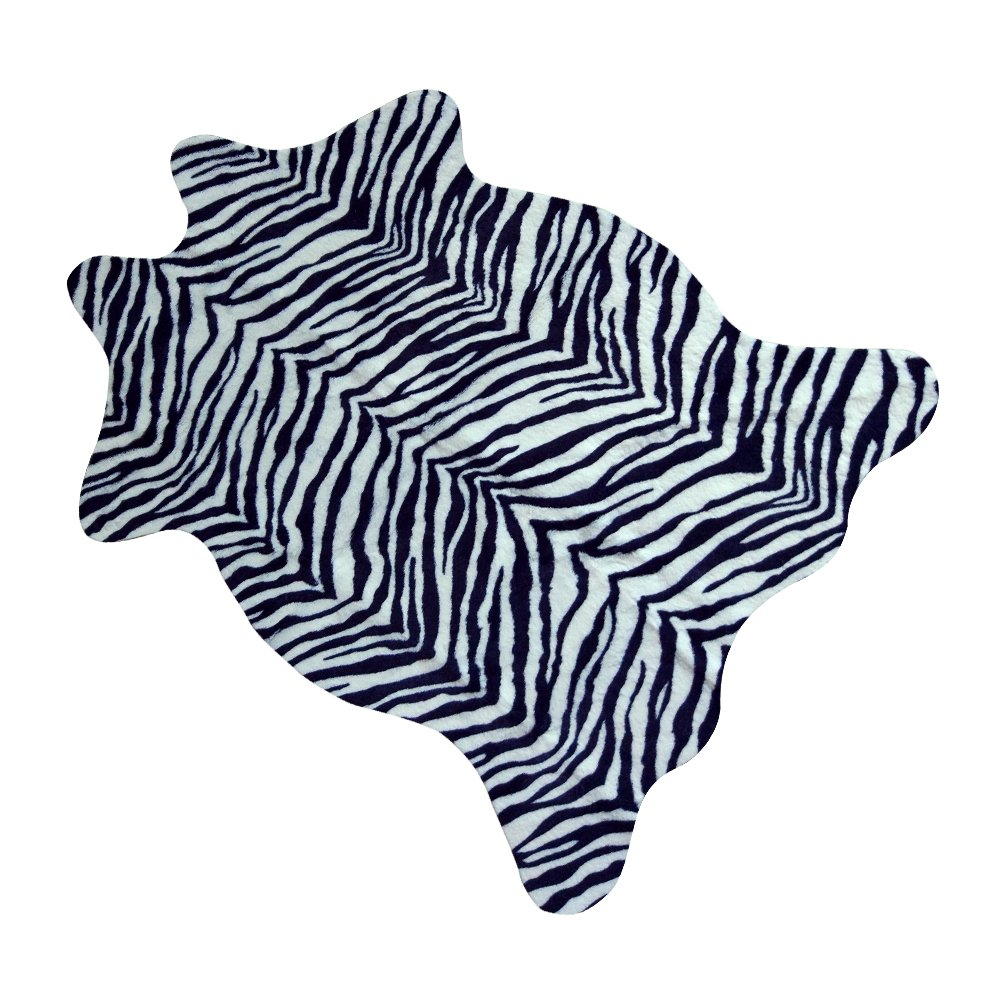 MUST MustHome cute faux Zebra Print Rug 3.6x2.3 feet Animal Print Rug perfect throw rug for tile/lounge room/small living room/office/kids room/under tables/smaller area