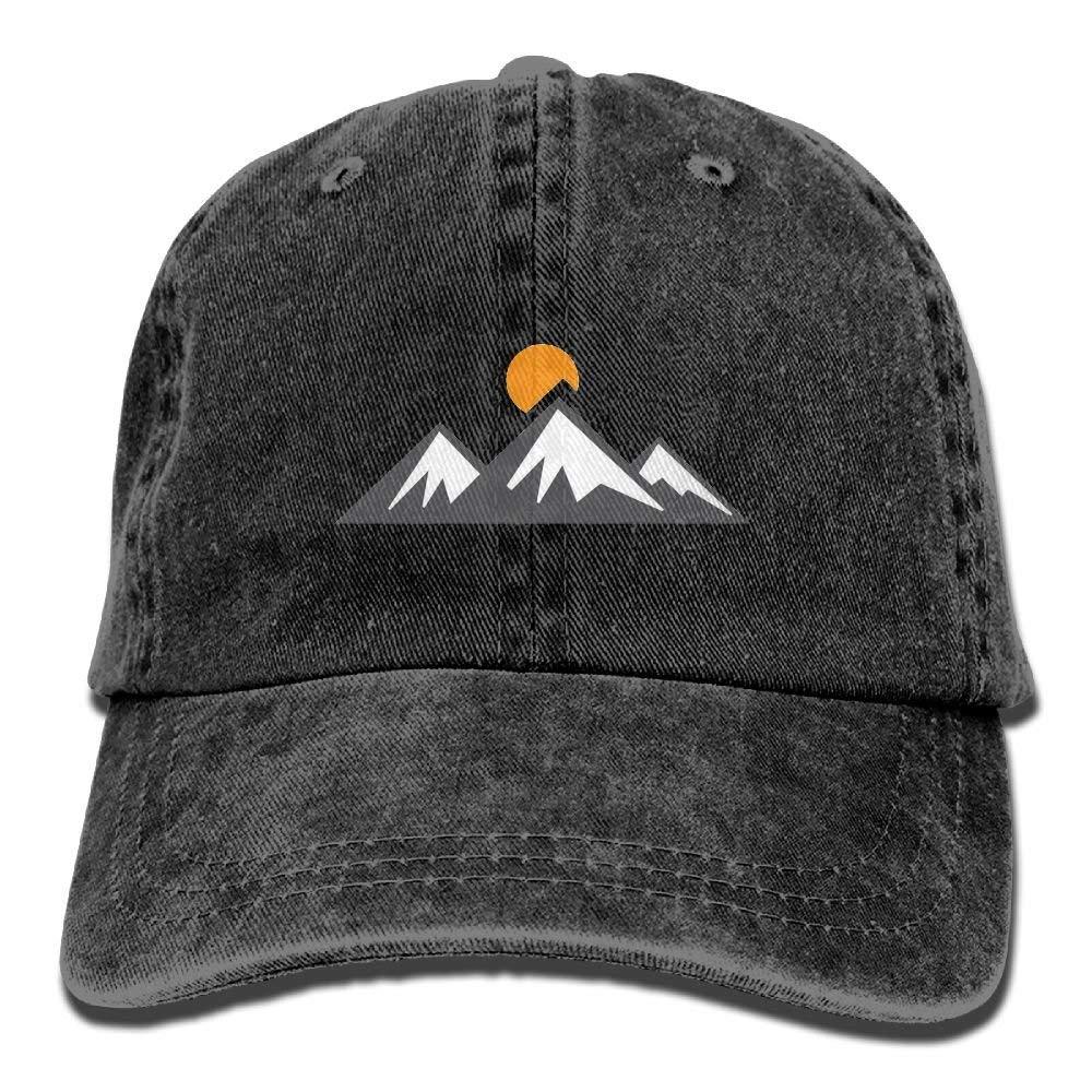 IEHFE Hombres Mujeres Classic Denim Mountain Rise Gorra de béisbol ...