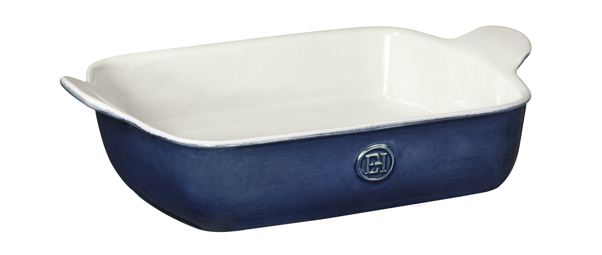 Emile Henry Made In France HR Modern Classics Small Rectangular Baker, 11 x 8'', Blue