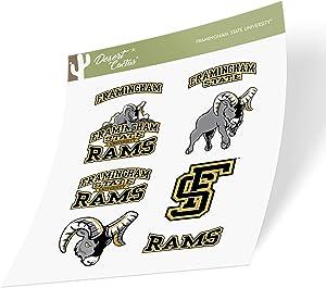Framingham State University FSU Green College NCAA Sticker Vinyl Decal Laptop Water Bottle Car Scrapbook (Type 2 Sheet)