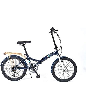 5a607b956b4 Unisex 6 Speed Folding Bike - Blue/White, 330 mm (