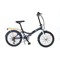 Universal Wayfarer Unisex's 6 Speed Folding Bike, Blue/White, 330 mm