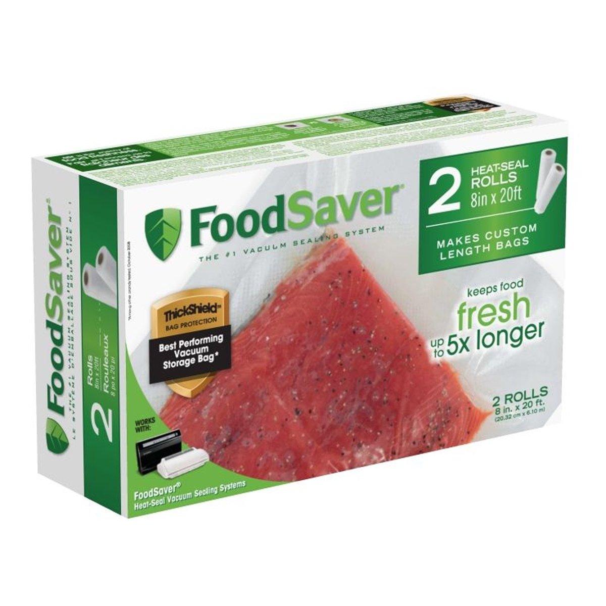 FoodSaver 2-pack 8x20' Heat Seal Rolls FSFSBF0526-033