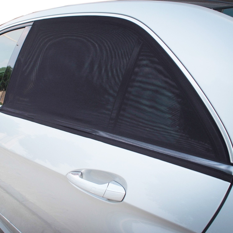 Regular Rectangular Window TFY Universal Car Rear Side-Door Square-Window Sunshades for Vehicles with Side Windows 29.5-41.5 W x 19 H