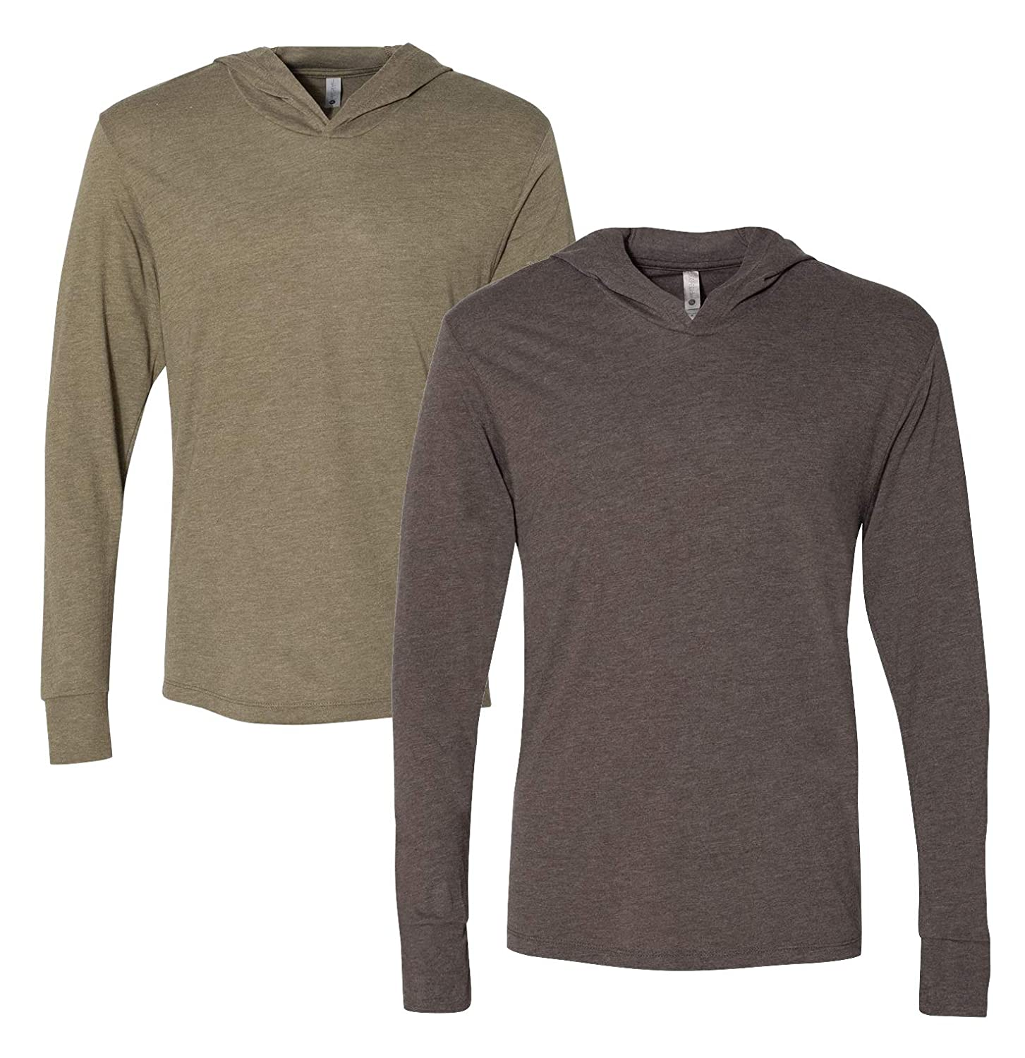 caada3170 Next Level mens Triblend Long-Sleeve Hoodie (N6021) at Amazon Men's  Clothing store: