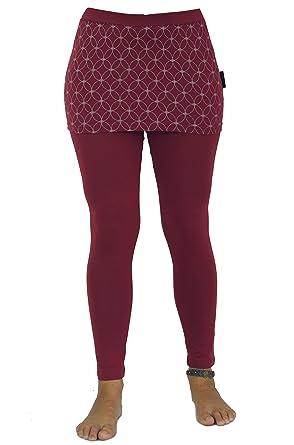 5213458c94 GURU-SHOP, Yoga Trousers, Leggings with Mini Skirt Flower of Life, Cotton,  Shorts and 3/4 Trousers, Leggings: Amazon.co.uk: Clothing