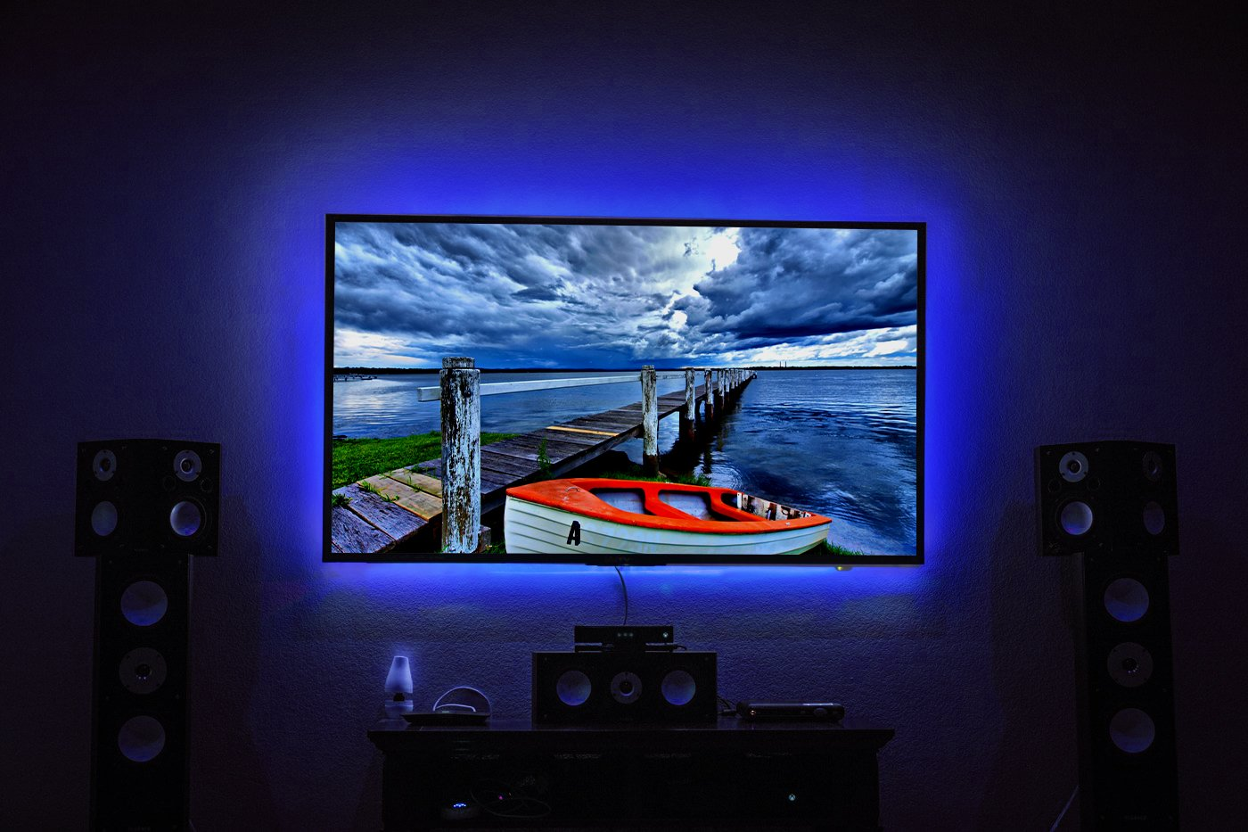 LED TV Backlight, Maylit 2M/6.56ft RGB Neon Accent LED Lights Strips for 40 to 60 in HDTV Neon Light Bias Lighting with Remote, USB LED Strips TV Backlight by maylit (Image #3)