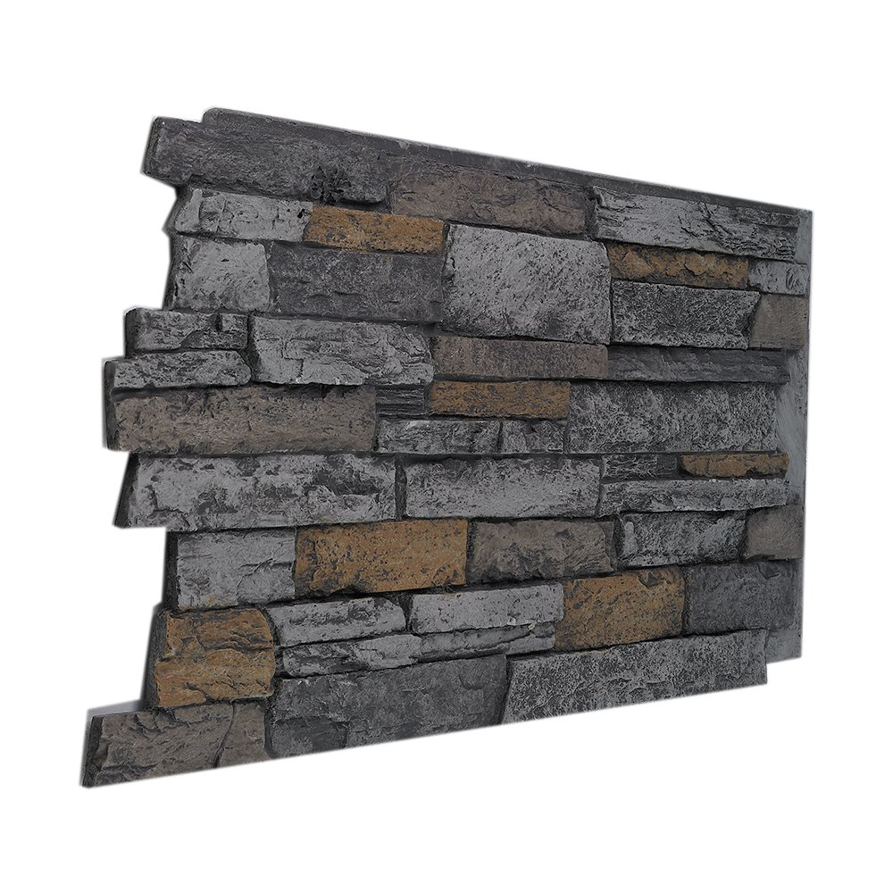 BuyFauxStone 48'W X 24'H X 1½ 'D Wide Stacked Stone Wall Panel-BEACH