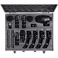 Stage Right 600007 - Kit de micrófono para tambor e instrumento, 7 piezas, con soporte de graves, redoblante, tambor…