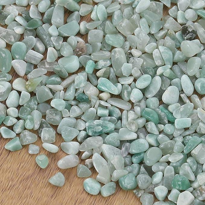 POPETPOP 100g Acuario Gravel River Rock Grava Pulida Decorativa Pequeñas Piedras Decorativas Piedras para acuarios Ajardinamiento de jarrones (Aventurine): ...