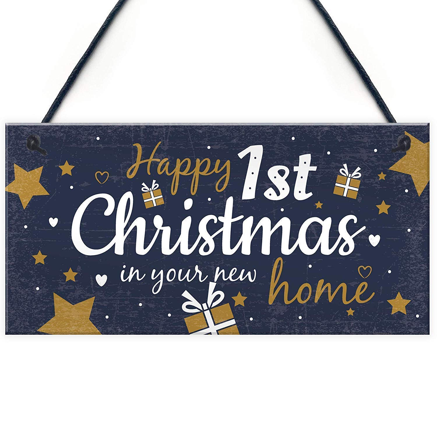 Mr.sign Happy 1st Christmas In New Home Cartel de Pared ...