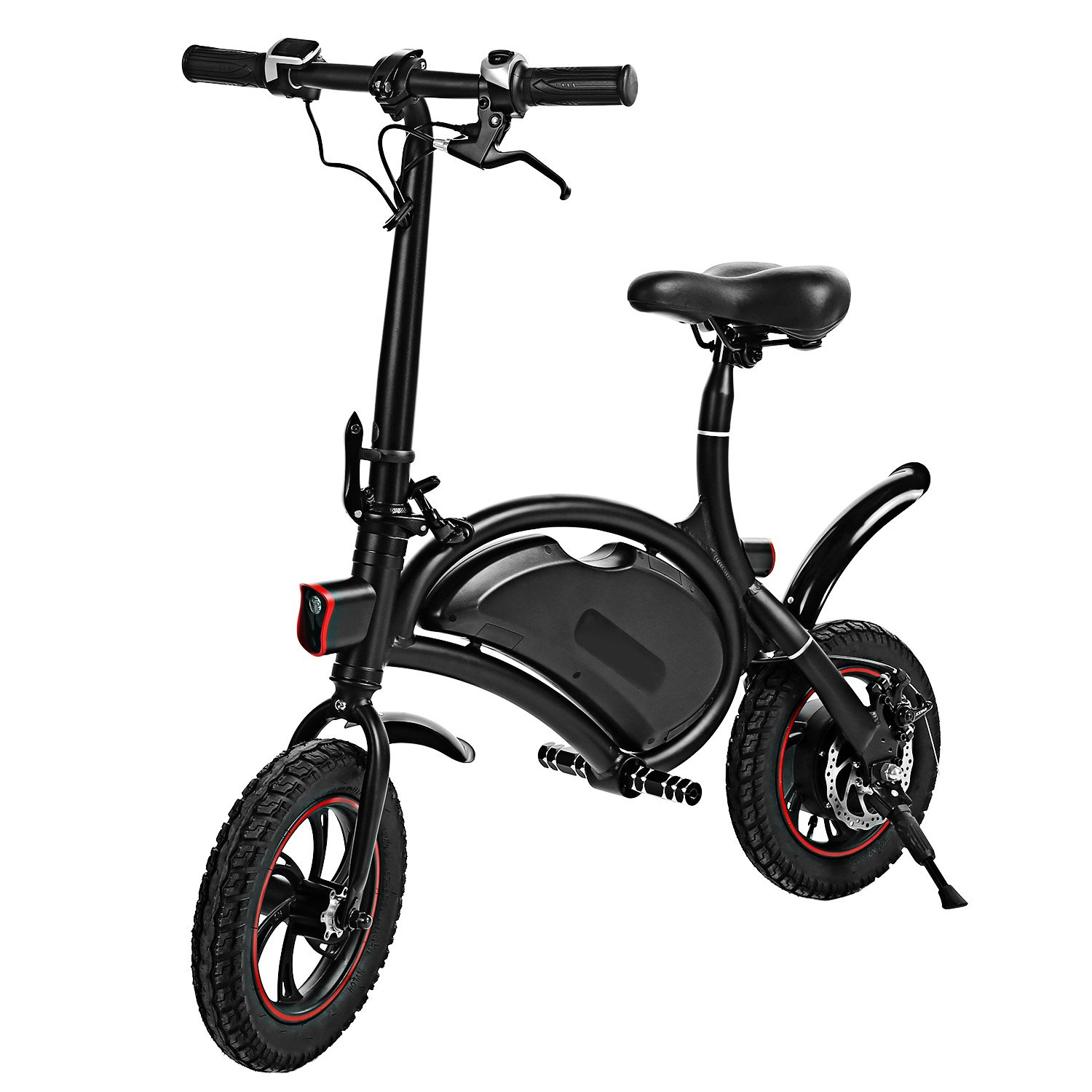 shaofu Folding Electric Bicycle 350W 36V Waterproof E-Bike with 15 Mile Range, Collapsible Frame, and APP Speed Setting