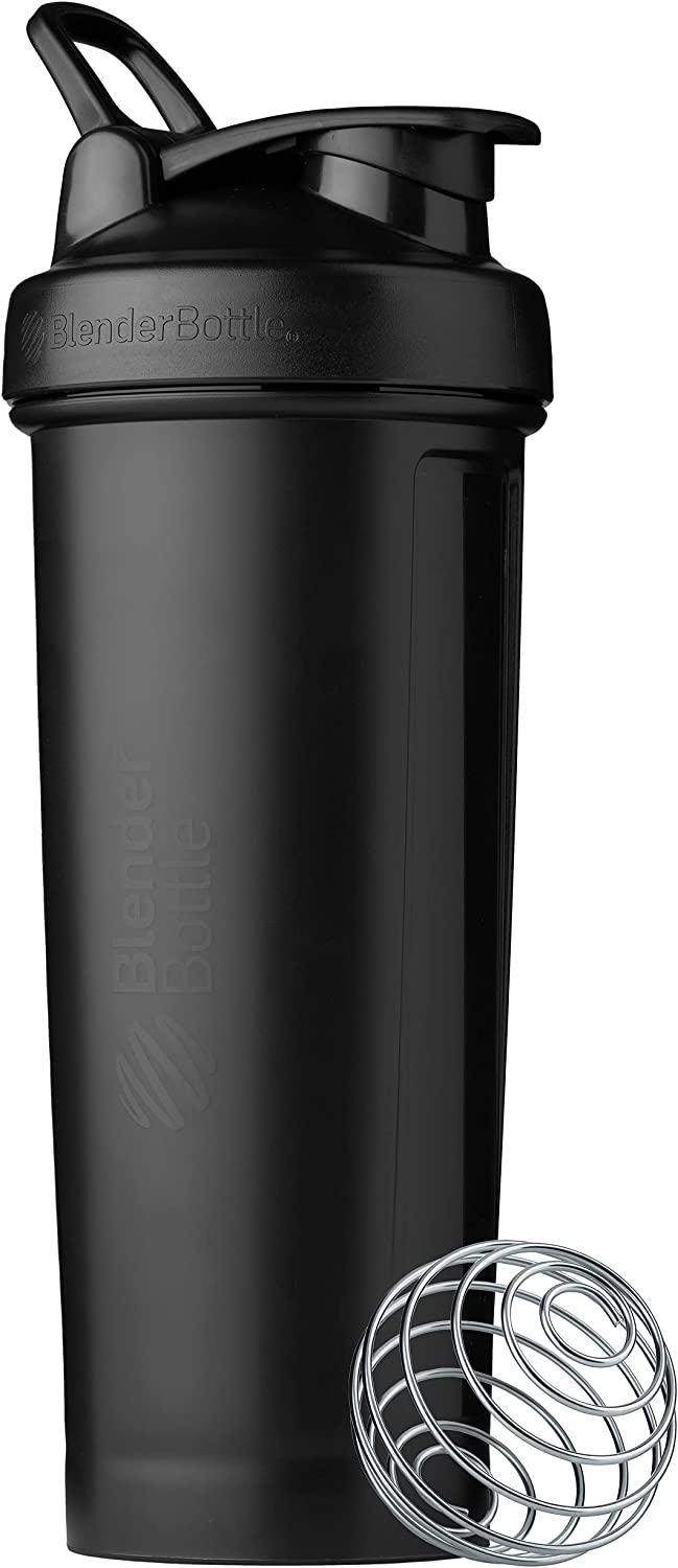 BlenderBottle Classic V2 Shaker Bottle Perfect for Protein Shakes and Pre Workout, 32-Ounce, Black