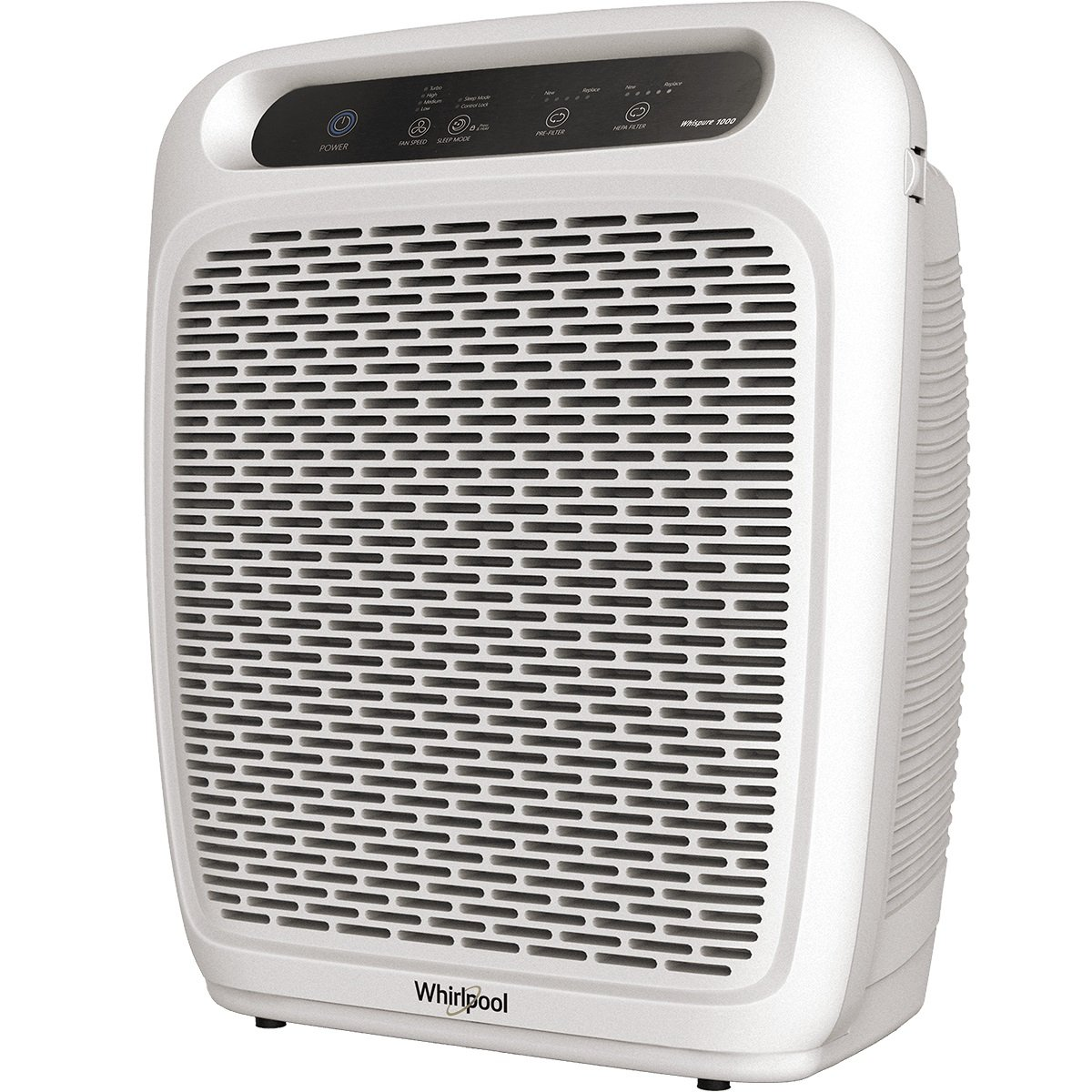 Whirlpool Whispure Air Purifier - WP1000 (Upgrade Ver. of WP500) 490 sq ft TRUE HEPA Filter 8171434K 1183054K, 4-Speed Plus Turbo, Removes Pollen, Pet Dander, Smoke, Odors (WP1000P-Pearl White)