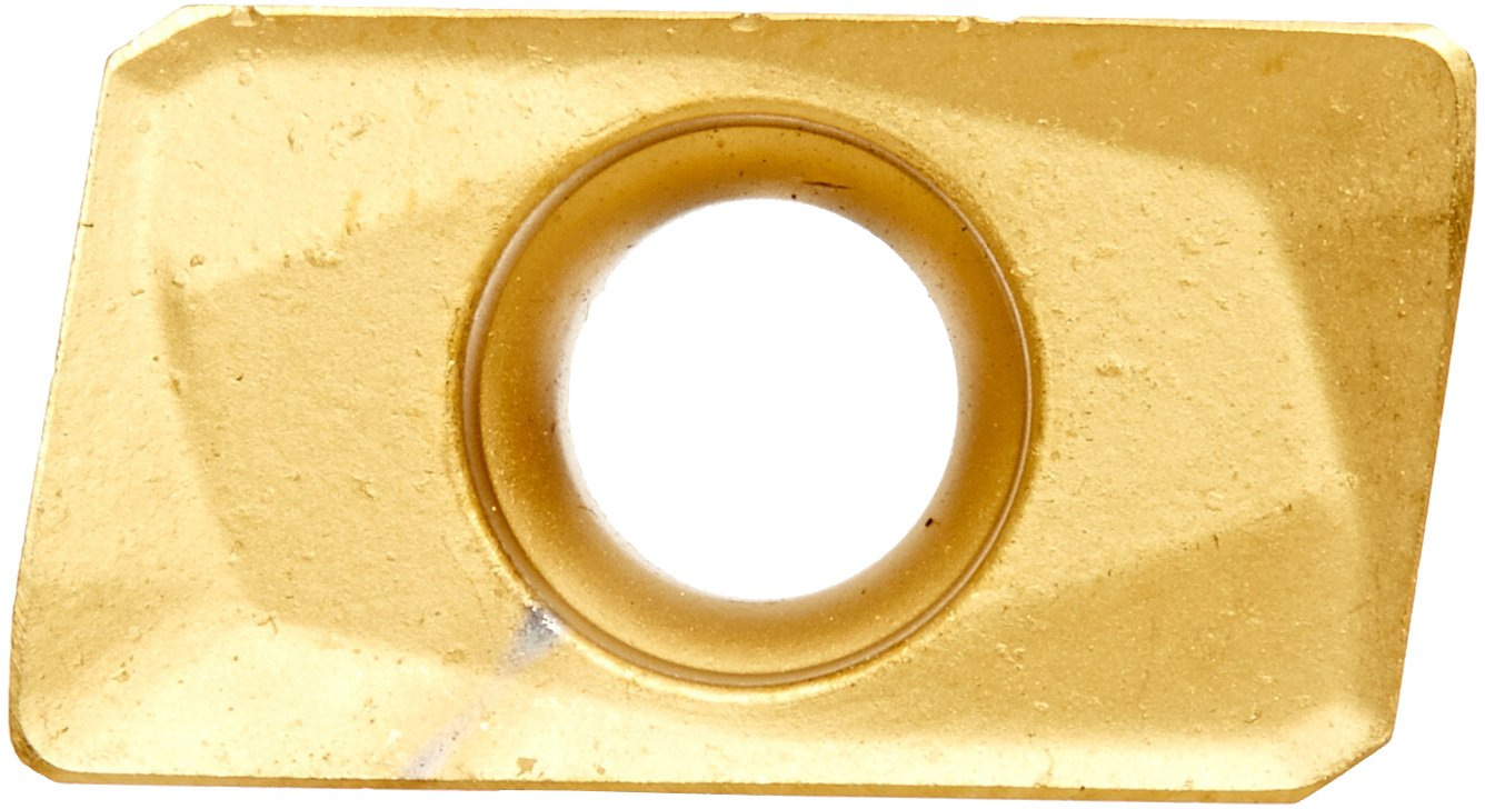 Cobra Carbide 42752 Solid Carbide Indexable Milling Insert, CM02 Grade, Multilayer Coated, APKT Style, APKT 1604 PDR-HM, 0.375'' Thick, 0.031'' Radius (Pack of 10) by Cobra Carbide