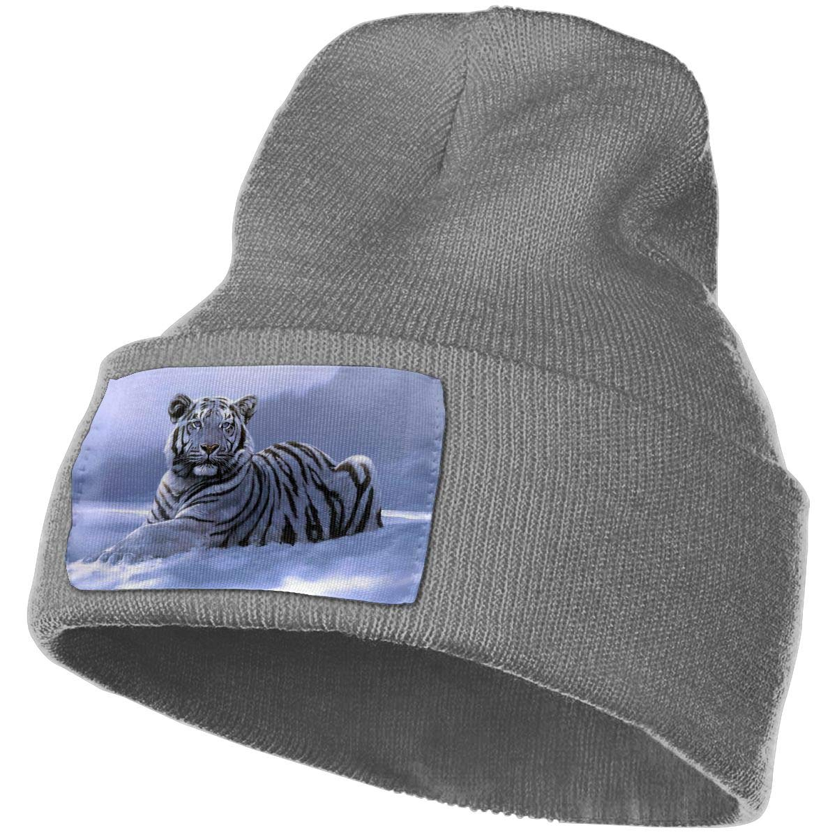 Deep Heather Beanie Hats Snow Tiger Knit Hedging Cap Slouchy Winter Warm Skull Caps For Men Womens