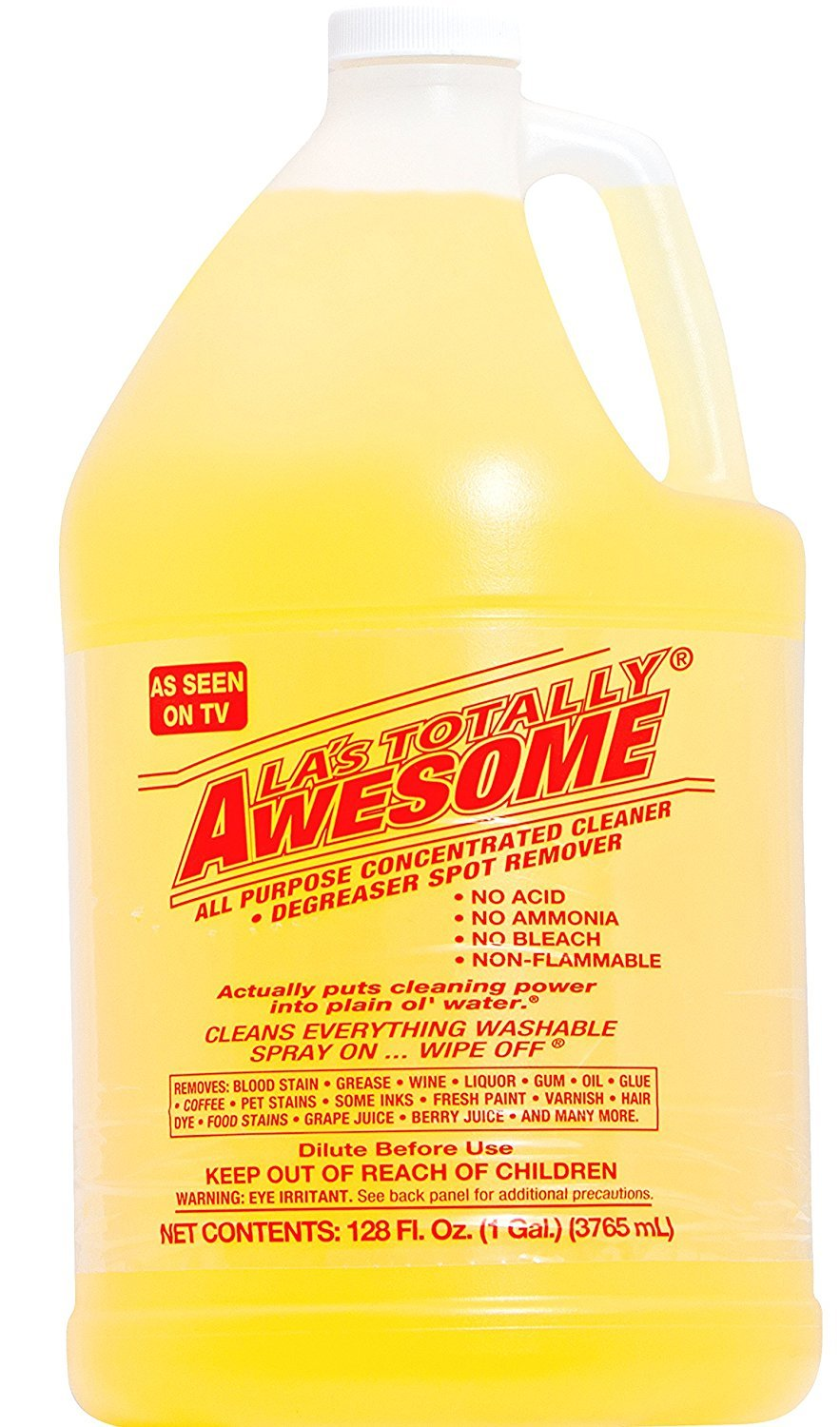 128oz Refills, 1 bottle Original - La's Totally Awesome All Purpose Concentrated Cleaner Degreaser Spot Remover Cleans Everything Washable As Seen on Tv