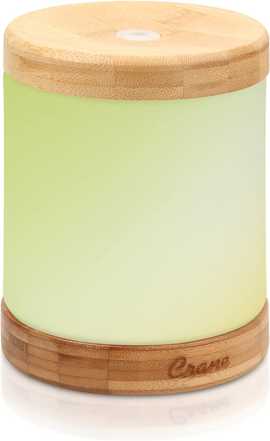 Crane Essential Oil Diffuser Aroma Essential Oil Cool Mist Humidifier with Adjustable Mist and Waterless Auto Shut-Off, Bamboo