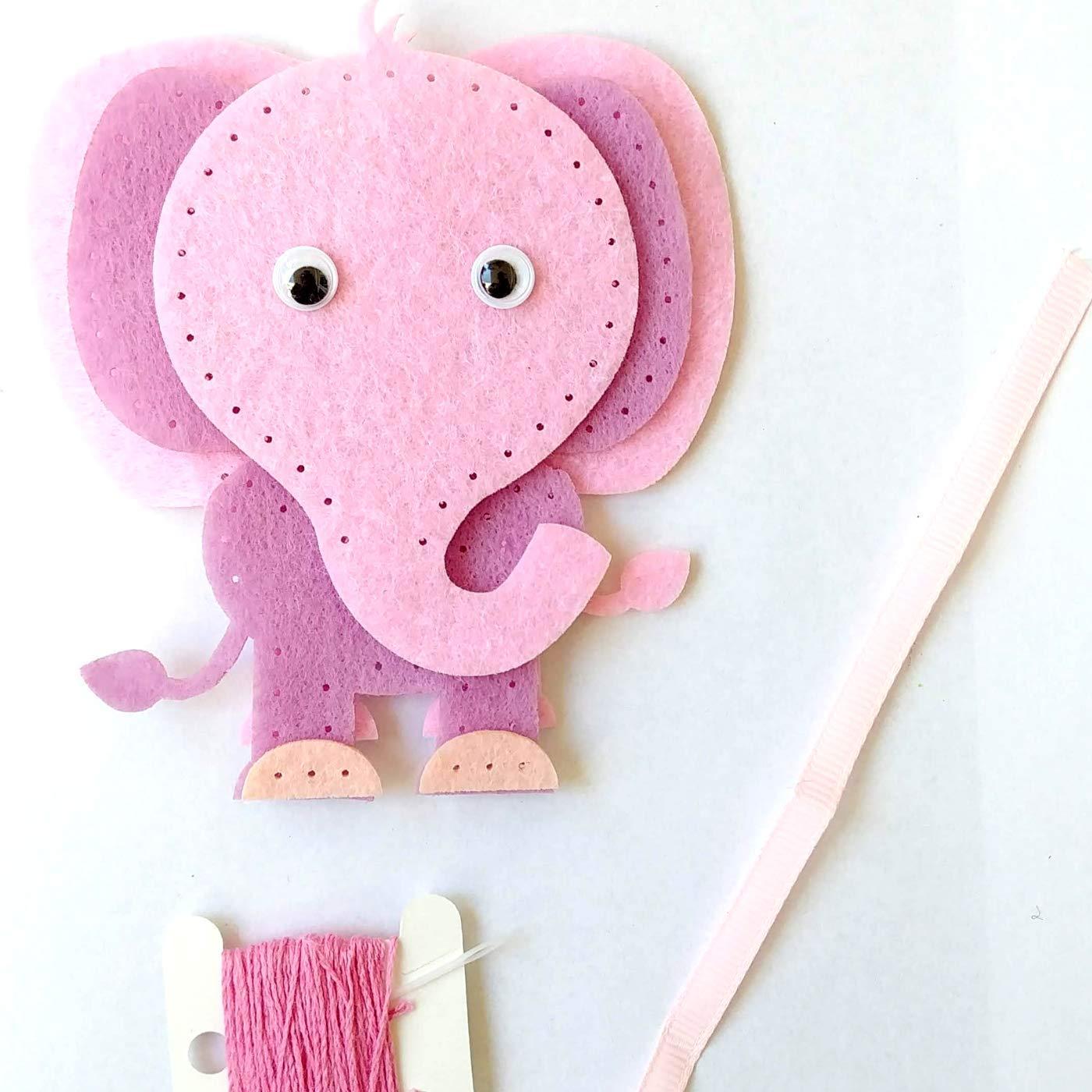 Pink Elephant Sewing Craft Kit MP Felt Animal Kit 1PCS