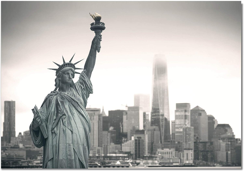 Panorama Póster Estatua Libertad New York 70 x 50 cm Impreso en Papel 250gr Póster Pared Cuadros Decoración Salón y Dormitorio Póster Decorativos Cuadros Modernos