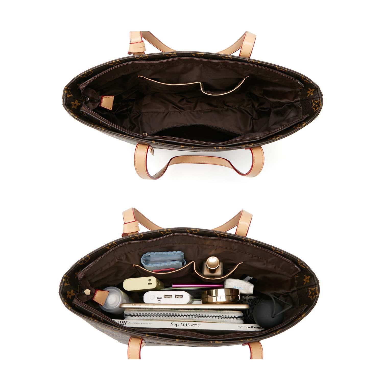 ELIMPAUL Women Fashion Handbags Tote Bag Shoulder Bag Top Handle Satchel Purse Set 4pcs (Black-3) by ELIMPAUL (Image #5)