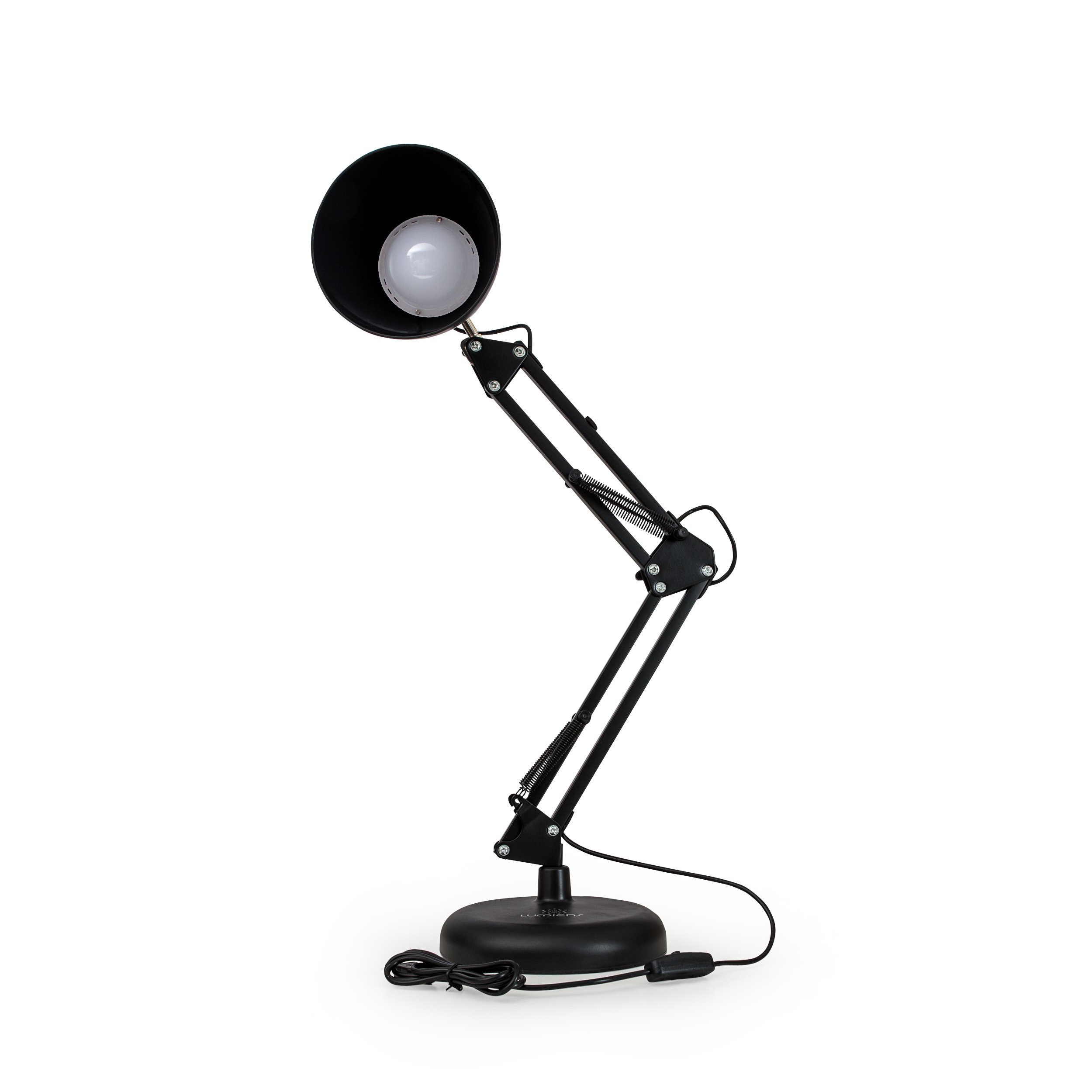 LUMIENS Astoria - Architect LED Desk Lamp - Adjustable Metal Swing Arm Task Table Light - Button Switch - Book Reading, Work Table, Craft Table, Desk, Night Stand, Drawer, Office, and More, Black