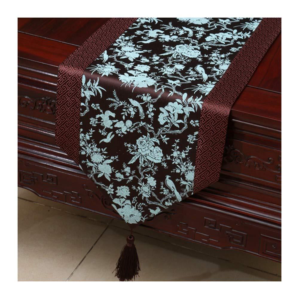 JUNYZZQ Camino De Mesa Table Flag Cloth Brocade Table Coffee Table American Modern Creative Table Cloth, 30X150Cm