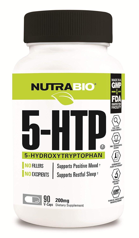 Amazon com: NutraBio 5-HTP Supplement (200mg, 90 Vegetable Capsules