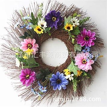 Amazon Lyfwl Christmas Wreath Artificial Flowers Silk Flower