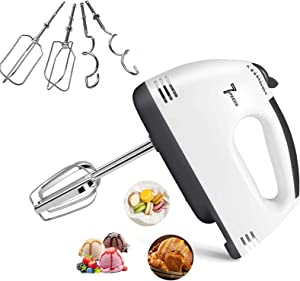 Electric Mixer Handheld,7 Speed Portable Kitchen Hand Held Mixer,Immersion Blender Whisk for Food Whipping,Egg Whisk,Cake Mixer,Milk Frother,Bread Maker,Beater