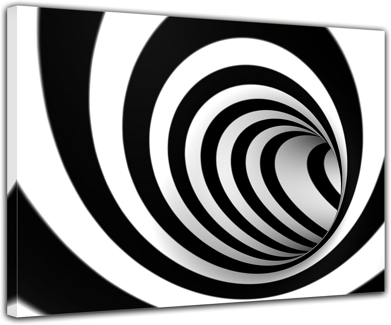 Bilderdepot24 Cuadros en Lienzo vórtice 3D - 70x50 cm 1 Piezas - Enmarcado Listo Bastidor Imagen. Directamente Desde el Fabricante: Amazon.es: Hogar