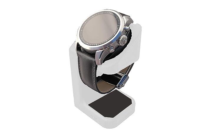 Artifex Design Stand Configured for MontBlanc Summit 2 Smartwatch, Charging Stand, Artifex Charging Dock Stand for MontBlanc Summit 2 only (White)