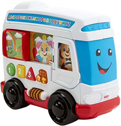 Amazon.com: Fisher-Price Laugh & Learn Learn Around Town Bus: Toys ...