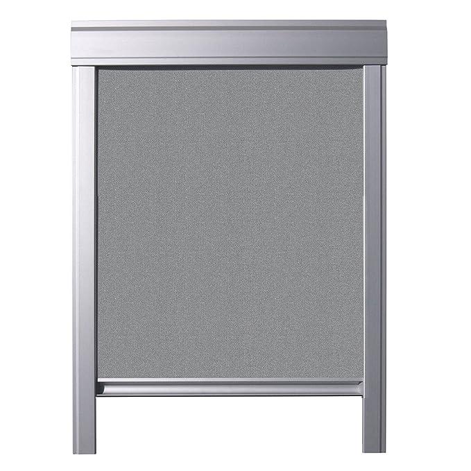 ITZALA Verdunkelungs-Rollo für VELUX Dachfenster, M08, 308, 2, Grau