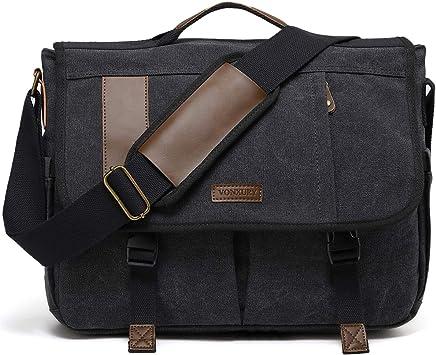 """Canvas Fits 17.3/"""" Laptop Durable Water-Resistant Estarer Laptop Messenger Bag"""
