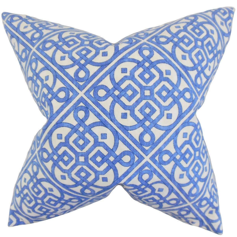 The Pillow Collection オーデン 幾何学模様 ロイヤルダウン 中綿 スローピロー B074KS1HSN