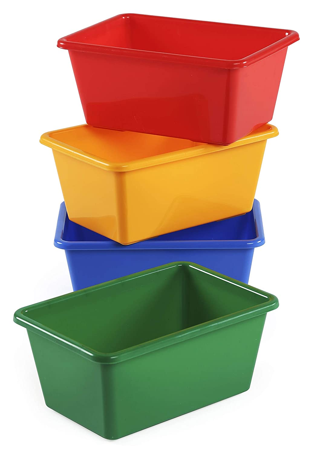 Merveilleux Amazon.com: Tot Tutors Kidsu0027 Primary Colors Small Storage Bins, Set Of 4:  Kitchen U0026 Dining