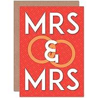 Wedding Marriage MRS & MRS Same Sex Gay Greetings Gift Card