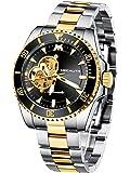 MEGALITH Reloj Hombre Reloj Automatico de Hombre Mecanico Esqueleto Acero Inoxidable Relojes de Pulsera Elegante…