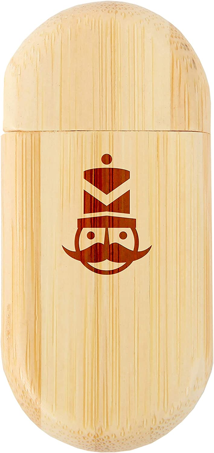 Wood Flash Drive with Laser Engraving Nutcracker 8Gb Bamboo USB Flash Drive with Rounded Corners 8Gb USB Gift for All Occasions