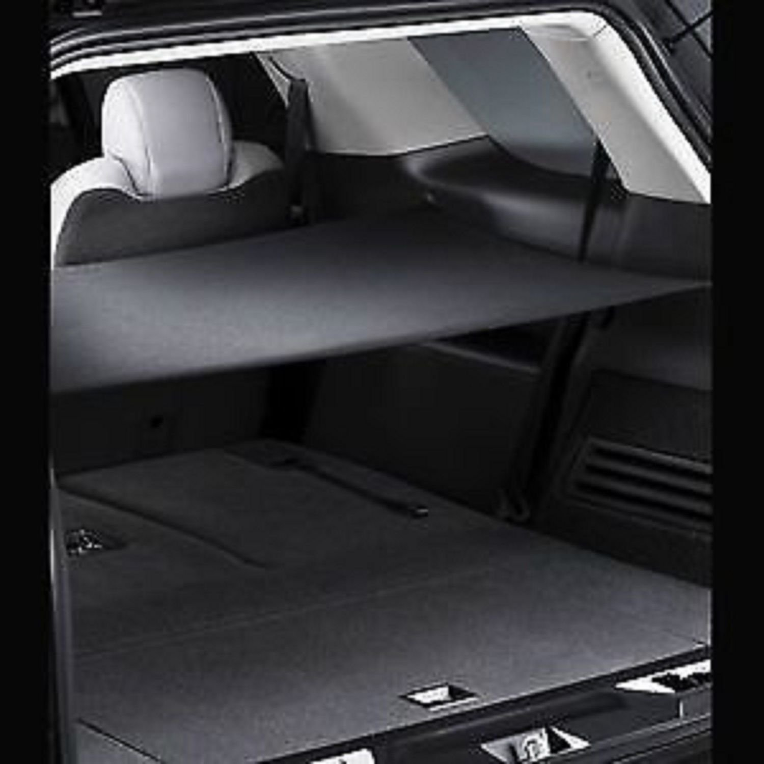 Amazon com trunk security cargo area shade cover ebony cargo net kit for gmc acadia buick enclave chevy traverse saturn outlook brand new automotive